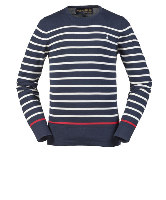 MONACO STRIPE C-NECK KNIT