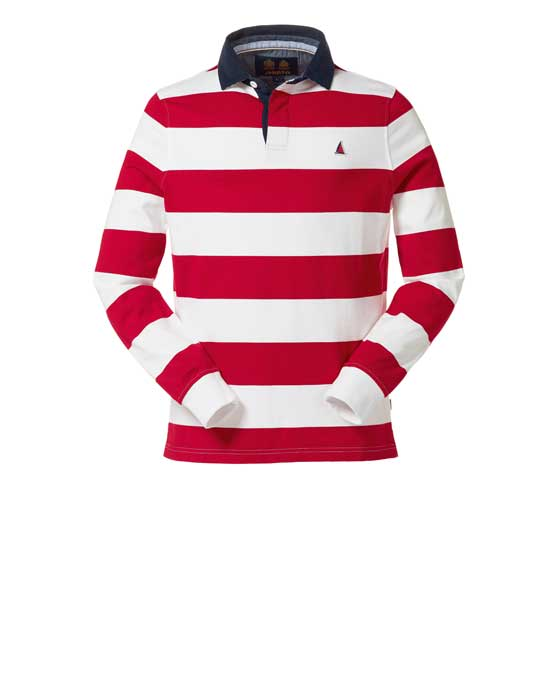 EDWARD STRIPE RUGBY SHIRT