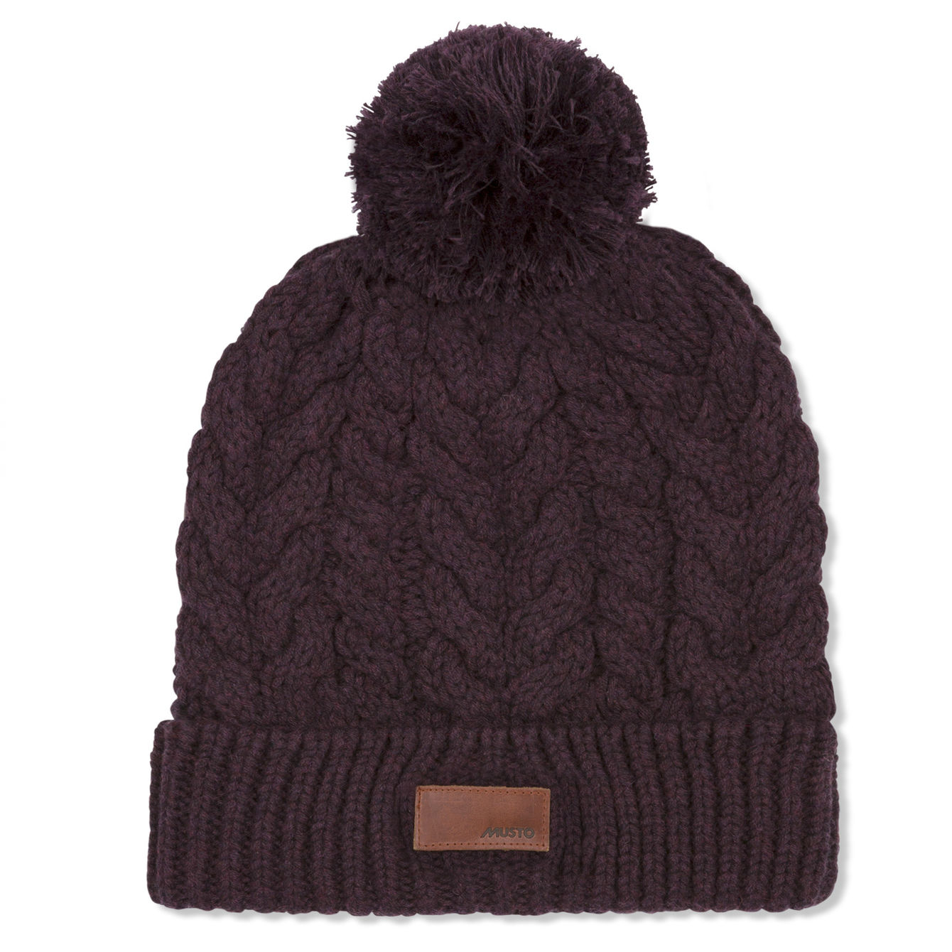 CHUNKY CABLE KNIT BOBBLE FW