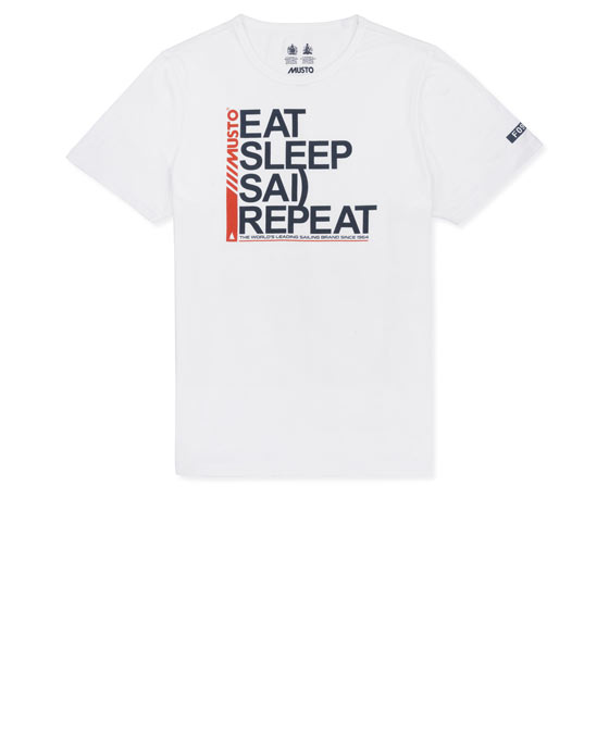EAT SLEEP SAIL REPEAT TEE